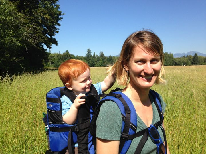 Liegel and her son Finn on one of their many outdoor adventures, in Rasar State Park, Washington.