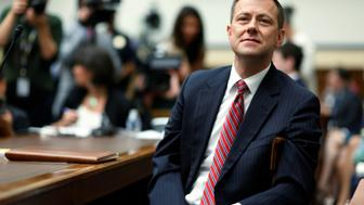 "FBI Deputy Assistant Director Peter Strzok waits to testify before the U.S. House Committees on the Judiciary and Oversight & Government Reform joint hearing on ""Oversight of FBI and DOJ Actions Surrounding the 2016 Election"" in Washington, U.S., July 12, 2018.  REUTERS/Joshua Roberts"