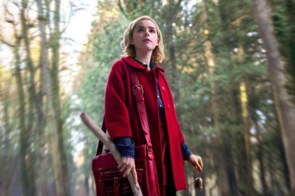 "Actress Kiernan Shipka as Sabrina Spellman in ""The Chilling Adventures of Sabrina."""
