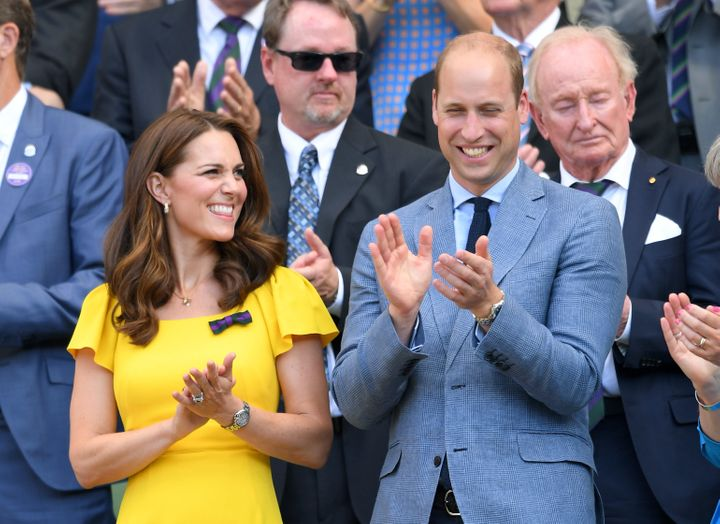 The Duke and Duchess of Cambridge at Wimbledon on July 15 in London.