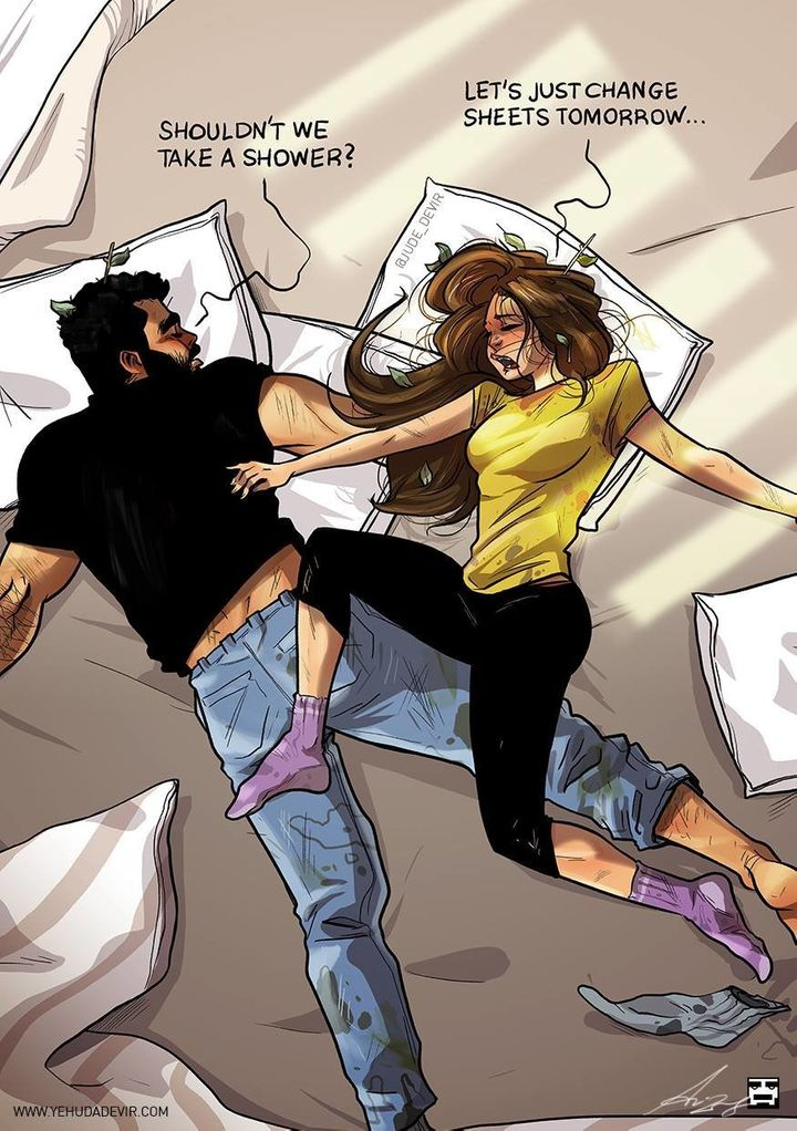 Couples sleeping together funny