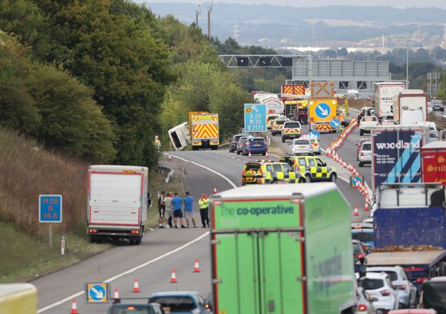 M25 Crash: Baby Boy Born In Traffic After Coach Overturns On