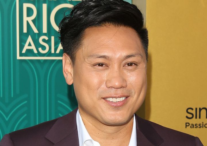 "Jon M. Chu arrives at the Los Angeles premiere of ""Crazy Rich Asians"" on Aug. 7, 2018."