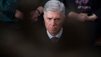 UNITED STATES - JANUARY 30: Supreme Court Justice Neil Gorsuch is seen in the House chamber during President Donald Trump's State of the Union address to a joint session of Congress on January 30, 2018. (Photo By Tom Williams/CQ Roll Call)