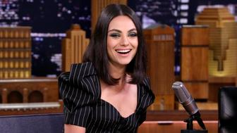 THE TONIGHT SHOW STARRING JIMMY FALLON -- Episode 0904 -- Pictured: Actress Mila Kunis during an interview on July 30, 2018 -- (Photo by: Andrew Lipovsky/NBC/NBCU Photo Bank via Getty Images)