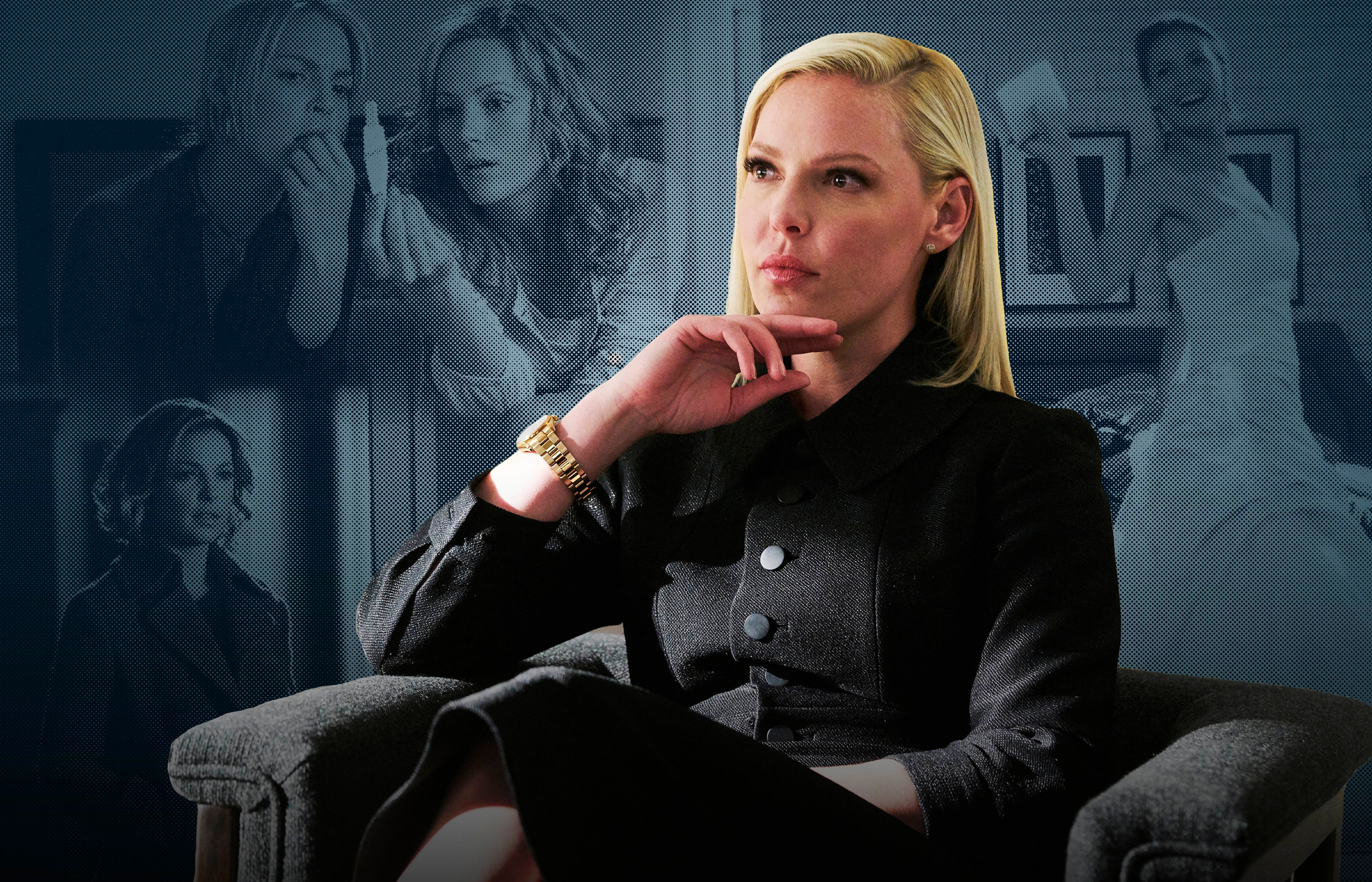 "SUITS -- ""Right-Hand Man"" Episode 801 -- Pictured: Katherine Heigl as Samantha Wheeler -- (Photo by: Ian Watson/USA Network/NBCU Photo Bank via Getty Images)"