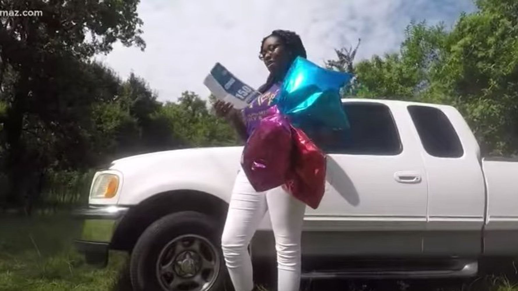 Georgia Teen Attached College Wish List To Balloons  Miles Away, A