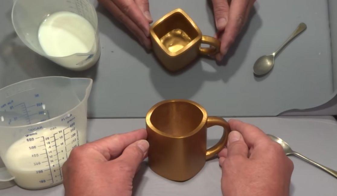 Diskussion im Netz: Ist diese Tasse rund oder eckig?