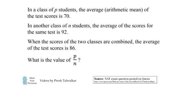 미국에서는 대입 시험(SAT)에 나온 이 간단한 수학 문제가 너무나 어렵다고