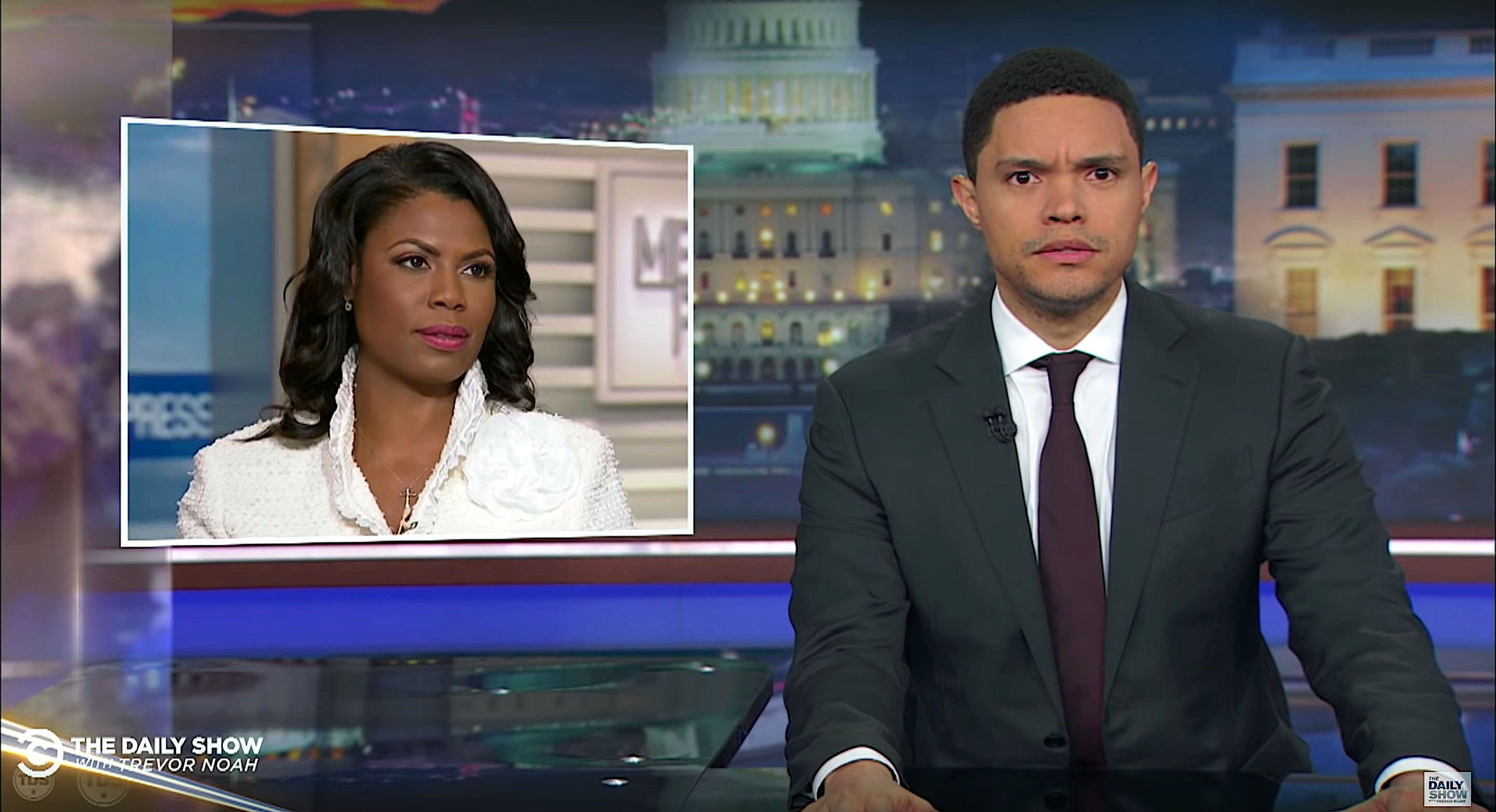 Trevor Noah of The Daily Show comments on Omarosa Manigault Newman