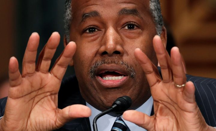 "U.S. Secretary of the Department of Housing and Urban Development Ben Carson lambasted the current fair housing rule as ""suff"