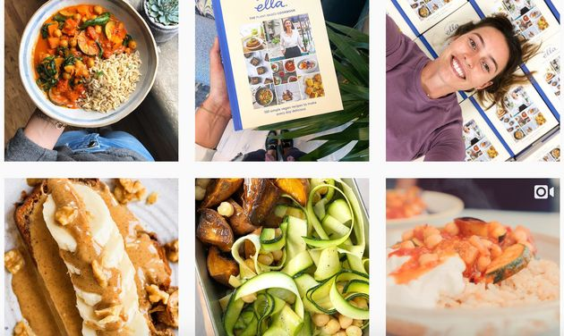 Snapshot of the Instagram page of food blogger Deliciously
