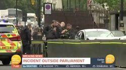 Terror-Verdacht in London: Mann fährt mit Auto in Absperrung vor