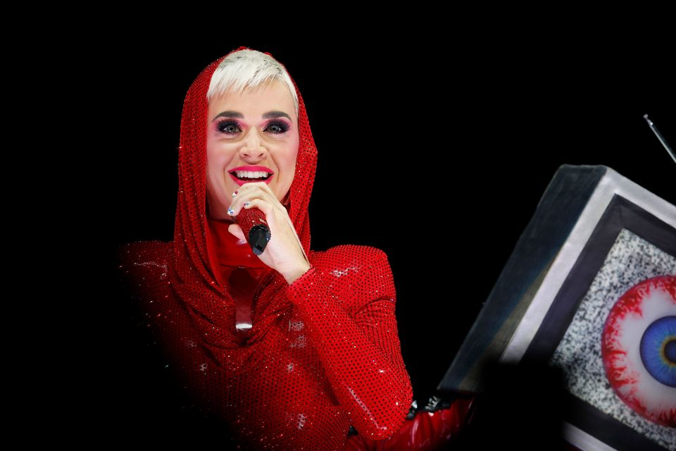 SYDNEY, AUSTRALIA - AUGUST 13:  Katy Perry performs at Qudos Bank Arena on August 13, 2018 in Sydney, Australia.  (Photo by H