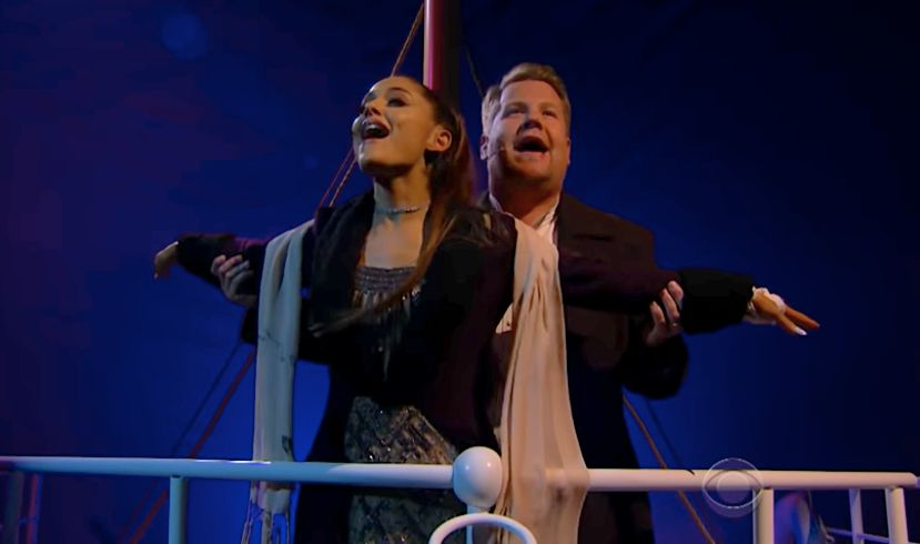 Ariana Grande And James Corden's 'Titanic' Musical Would Make Celine Dion