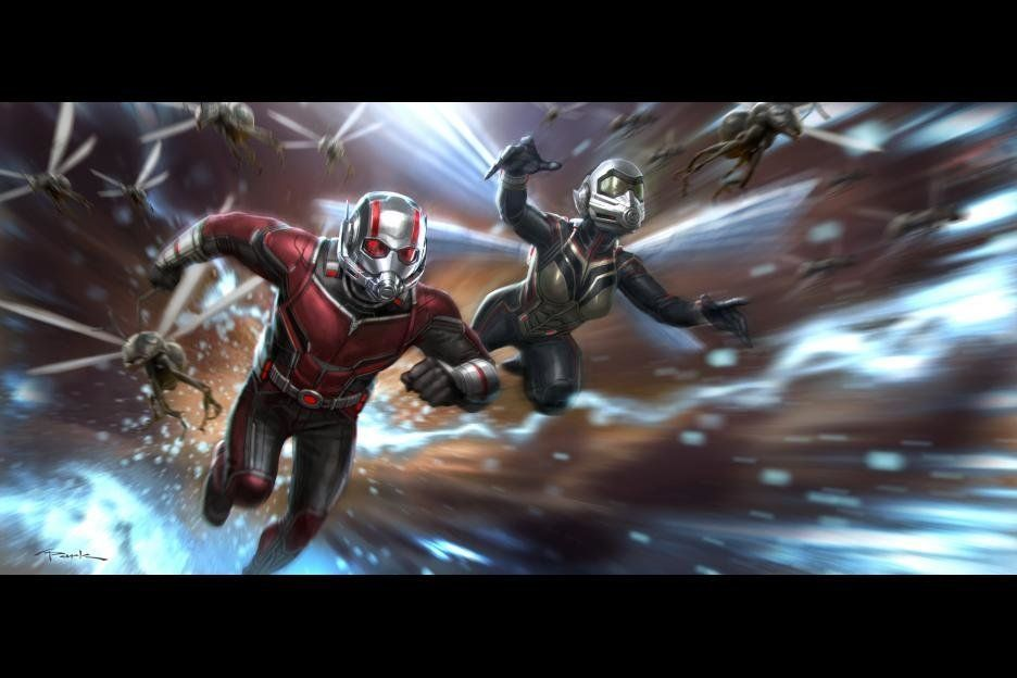 Ant-Man and the Wasp doing their