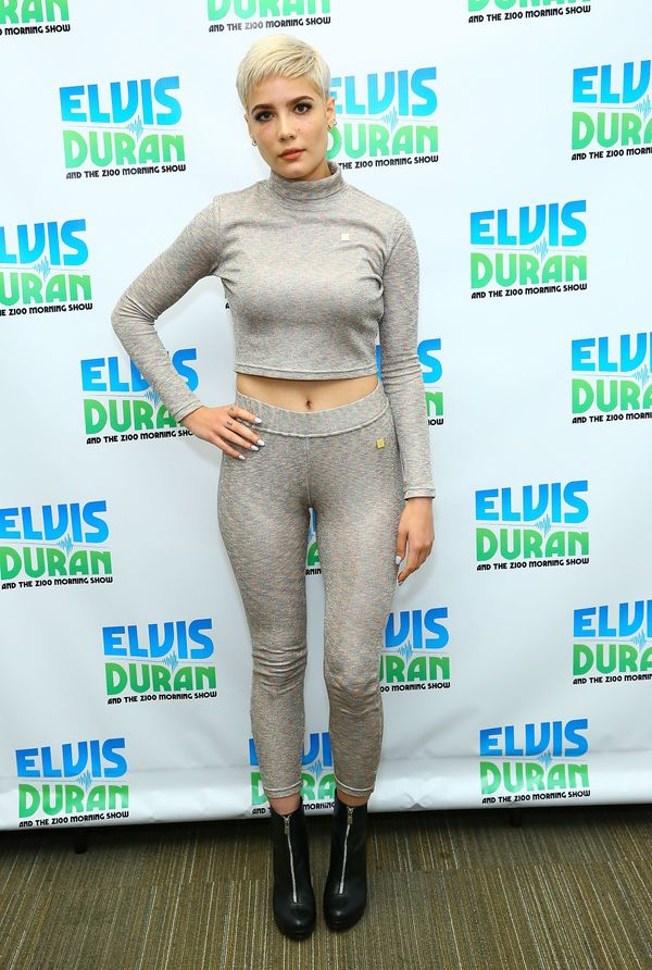 """The singer in matching separates at """"The Elvis Duran Z100 Morning Show"""" on Oct. 22 in New York City."""