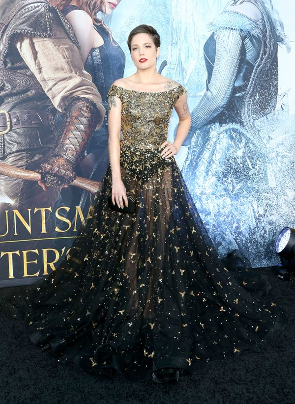 """At the premiere of Universal Pictures' """"The Huntsman: Winter's War,"""" April 11 in Westwood, California"""