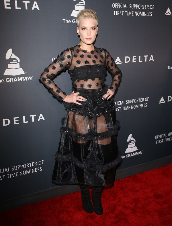 The singer wearing Steinrohner at a Delta Air Lines event during Grammy weekend, Feb. 9 in Los Angeles.