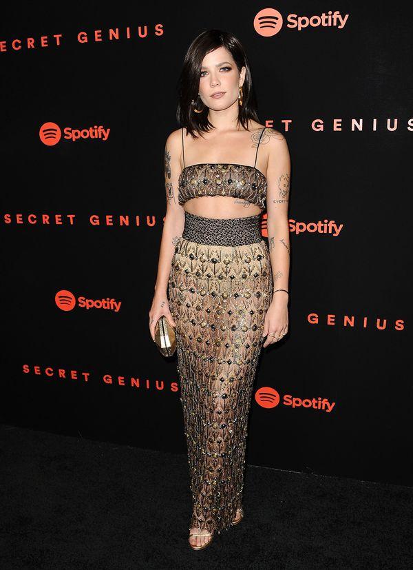 At Spotify's inaugural Secret Genius Awards on Nov. 1 in Los Angeles, wearing Sophie Theallet.