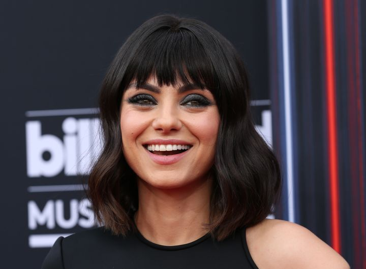Kunis arrives at the 2018 Billboard Music Awards in Las Vegas.