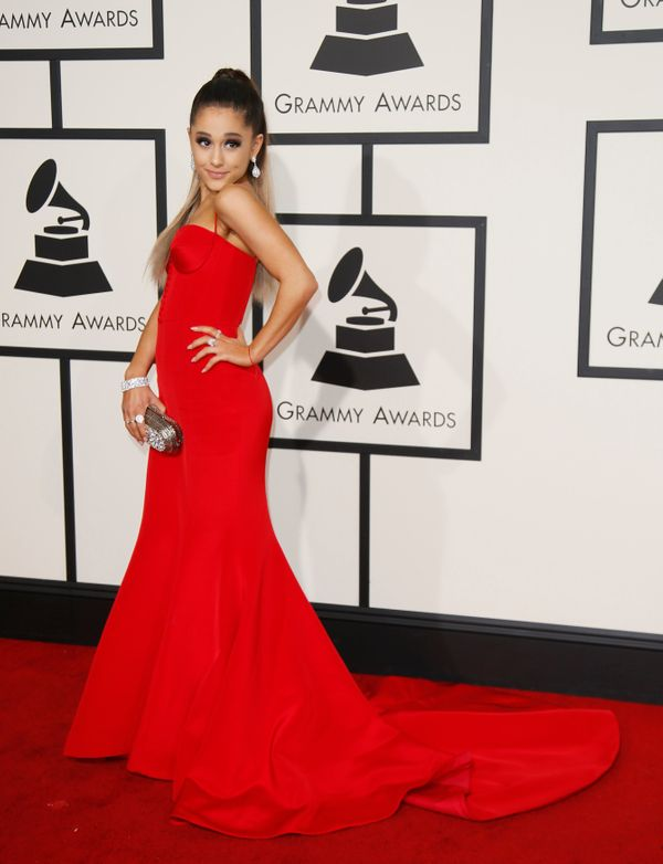 Singer Ariana Grande arrives at the 58th Grammy Awards in Los Angeles, California February 15, 2016.  REUTERS/Danny Moloshok