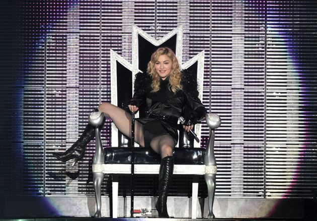Madonna on the second leg of her 'Sticky & Sweet' tour in 2009