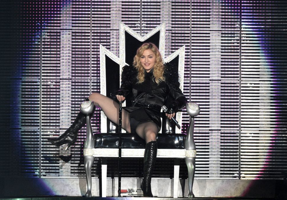 Madonna on the second leg of her 'Sticky & Sweet' tour in