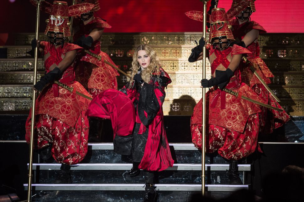 Madonna on her most recent world jaunt, the 'Rebel Heart'