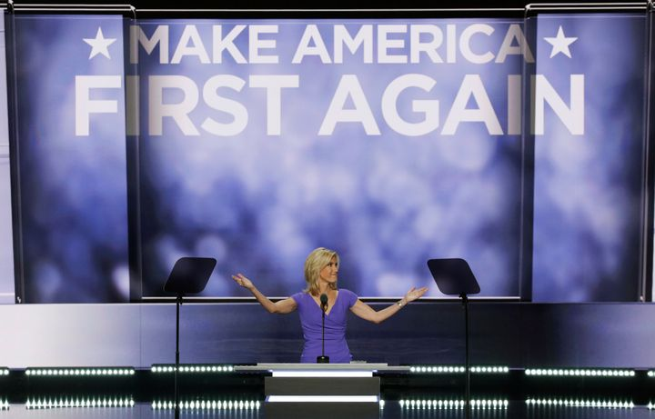 Laura Ingraham speaks at the Republican National Convention in Cleveland, Ohio, on July 20, 2016.