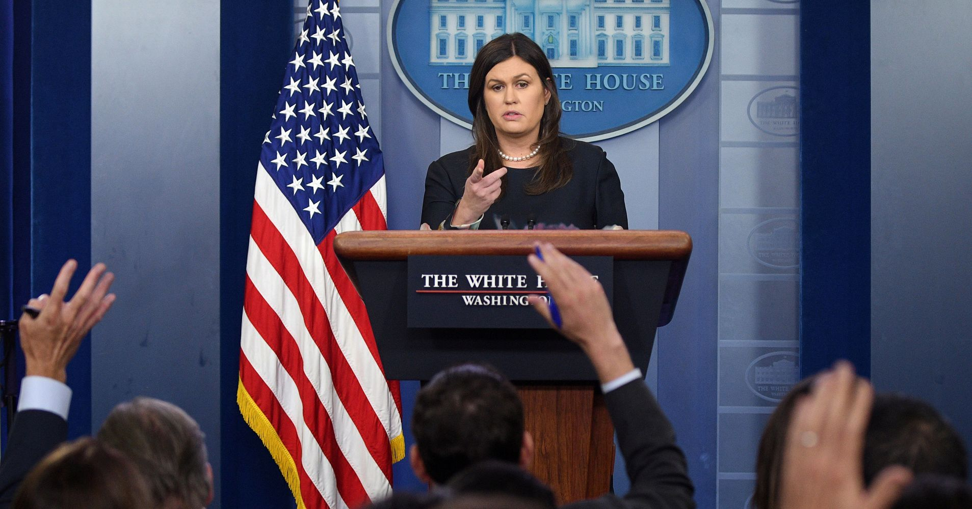 Sarah Huckabee Sanders: 'I Can't Guarantee' Trump Never Said Racial Slur