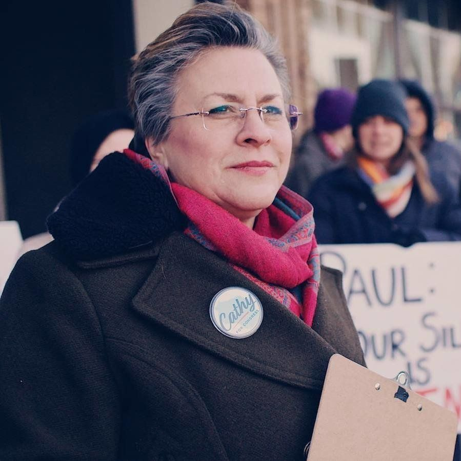 Cathy Myers, a school board member in Janesville, Wisconsin, gave Bryce a run for his money in Tuesday's Democratic House rac