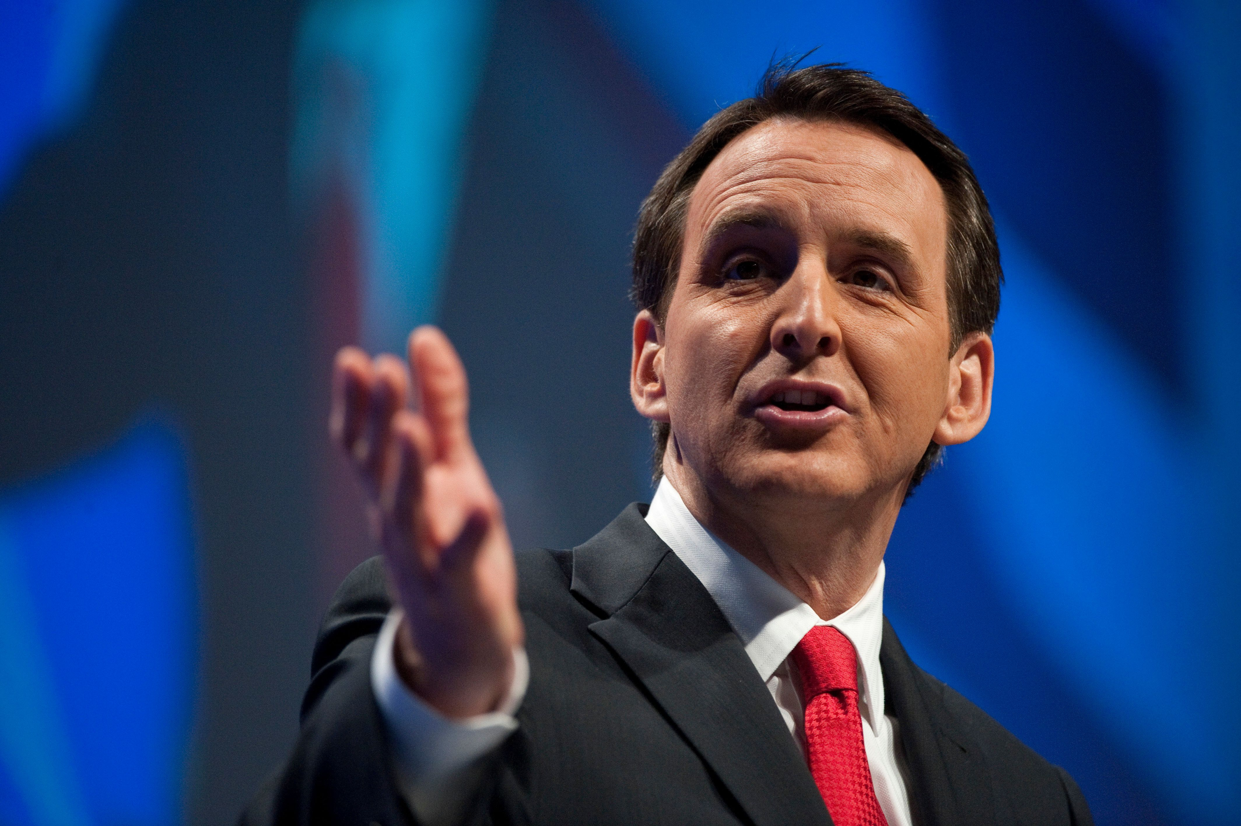 UNITED STATES Ð FEBRUARY 10: Former Gov. Tim Pawlenty, R-Minn., speaks to the CPAC Conference held by the American Conservative Union in Washington on Thursday, Feb. 10, 2010. (Photo By Bill Clark/Roll Call)