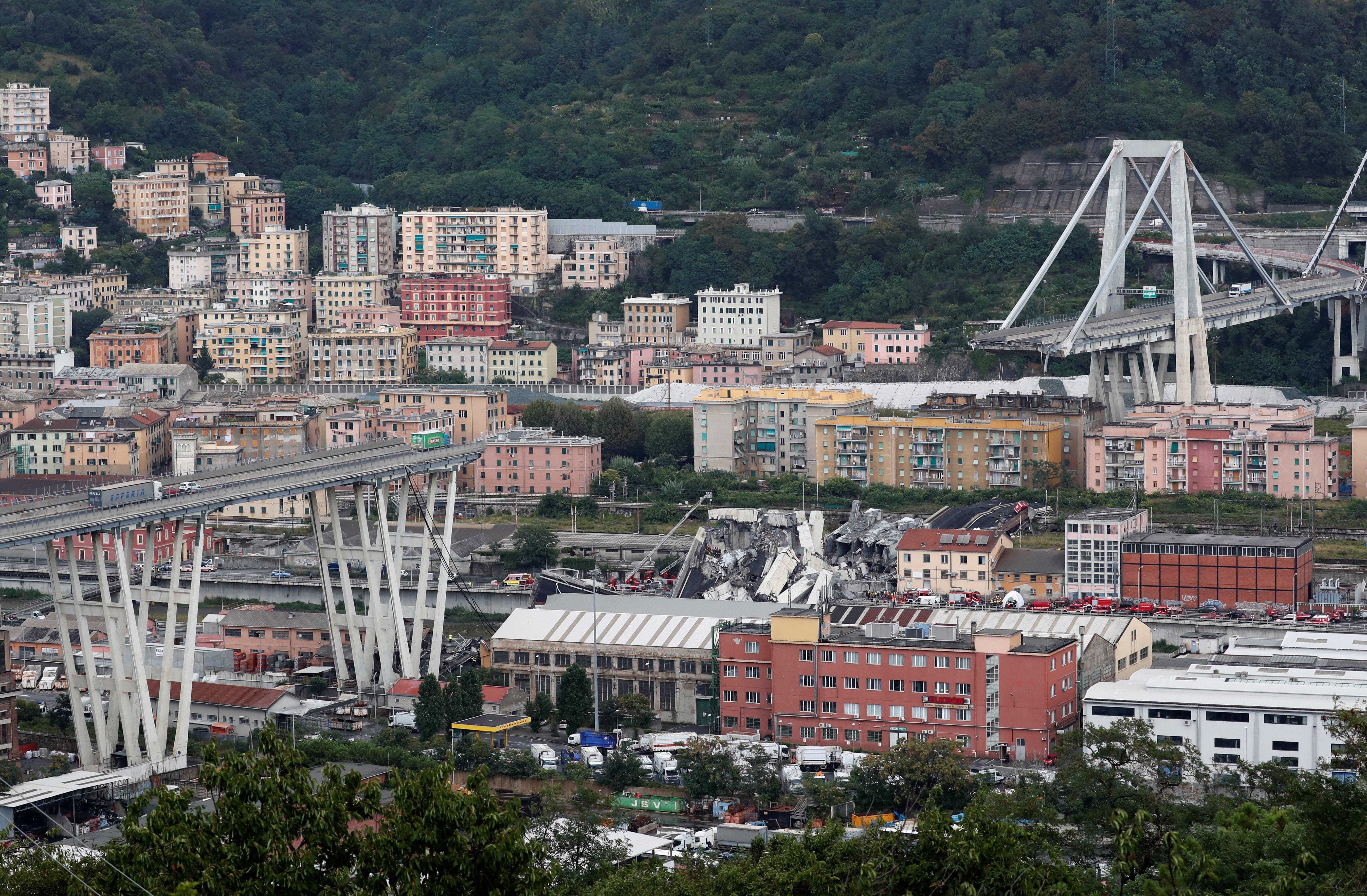 Motorway Bridge Collapses In Italian City Of