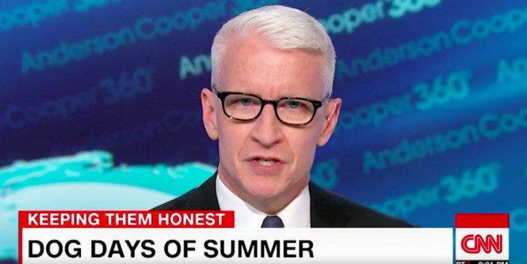 Anderson Cooper Uses Sarah Huckabee Sanders' Own Words Against Her