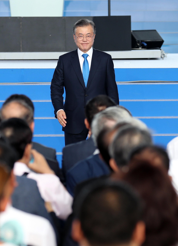 문재인 대통령이 남북협력을 동아시아 공동체로 이어가는 담대한 구상을 밝혔다 (광복절