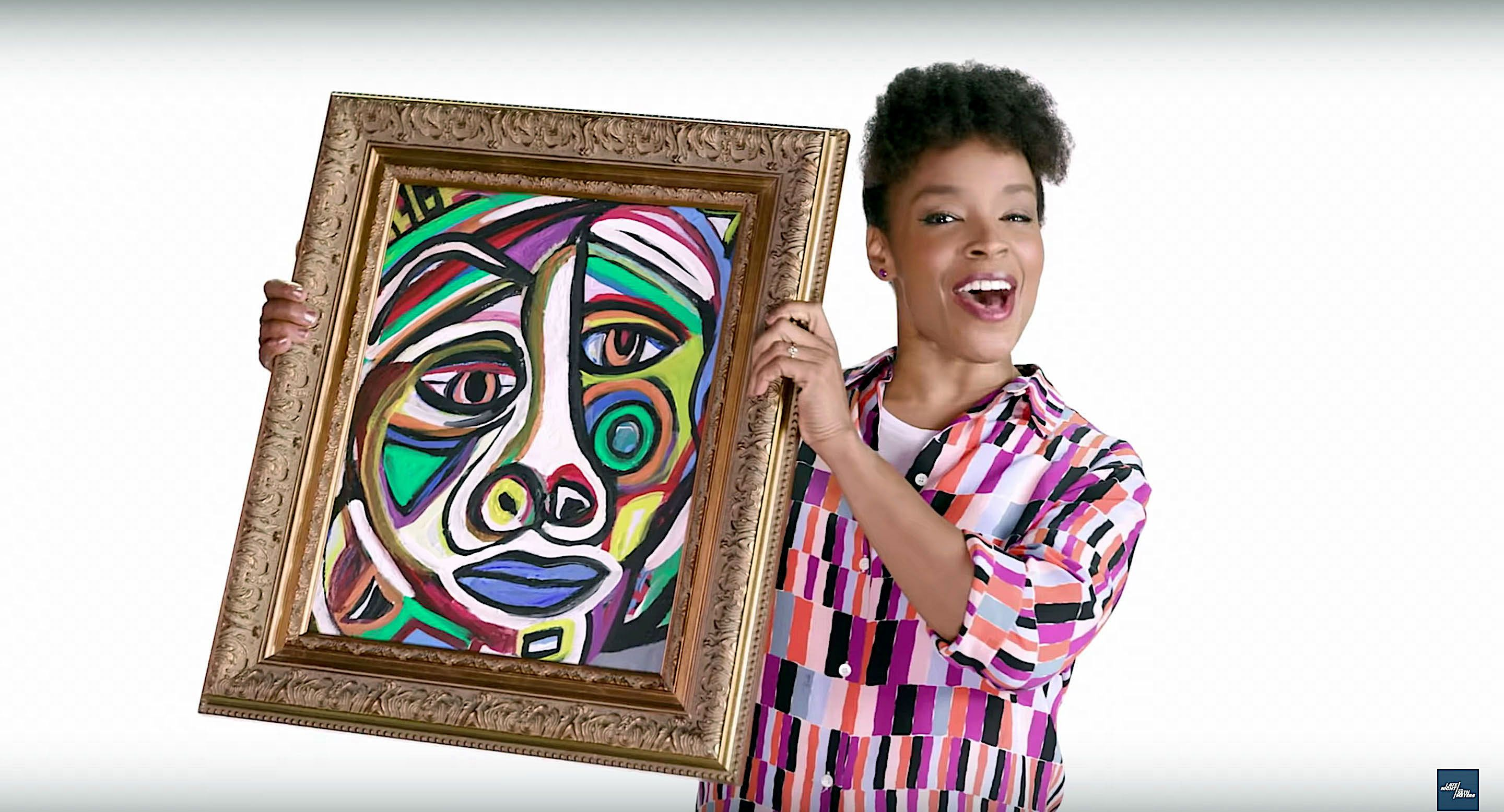 Amber Ruffin of Late Night remakes art created by problematic men