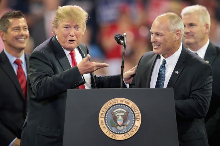Pete Stauber, the GOP nominee in Minnesota's 8th District, is one of the many Republicans who would love to campaign with Don