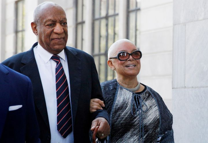 Bill Cosby, left, was convicted in April of drugging and raping a woman at his Pennsylvania home in 2004. His wife Camille, r