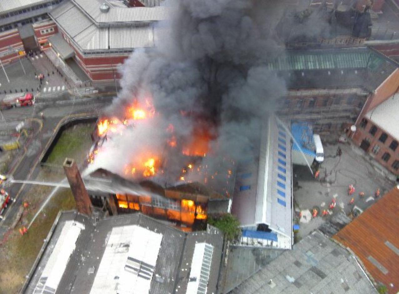 Ten Fire Crews Battle Huge Blaze Near Infamous Strangeways