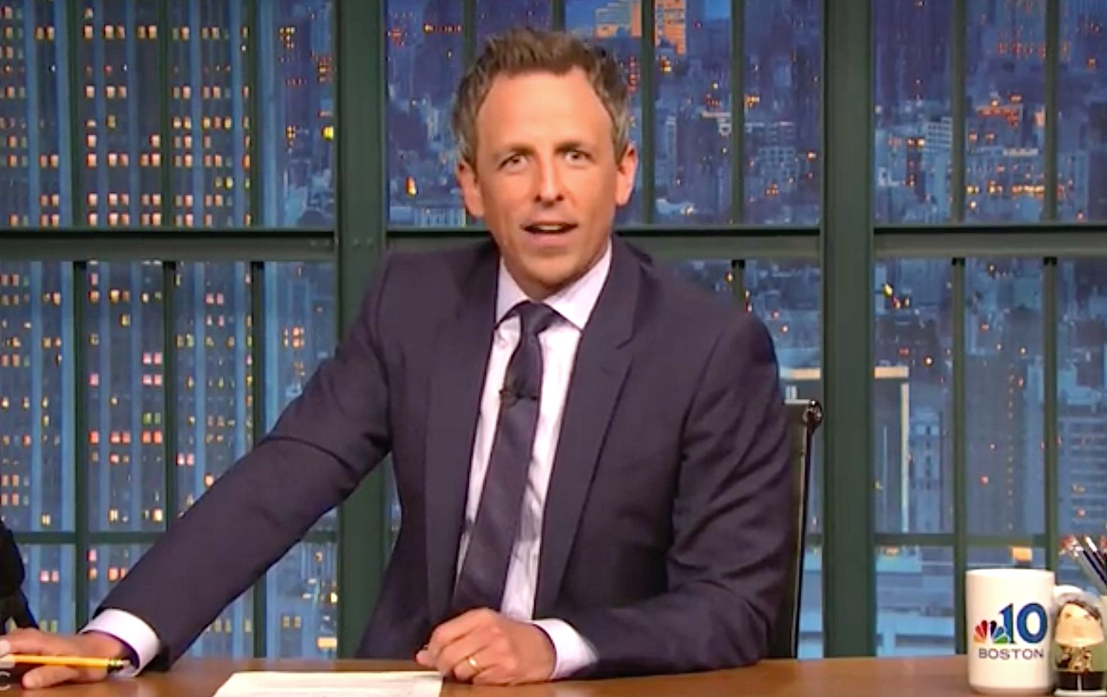 Seth Meyers Uses Cute Dog To Make Serious Point About Trump's 'Rotted-Out
