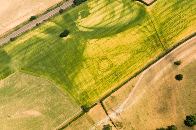 The stripes and pits are usually remnants of Iron Age land