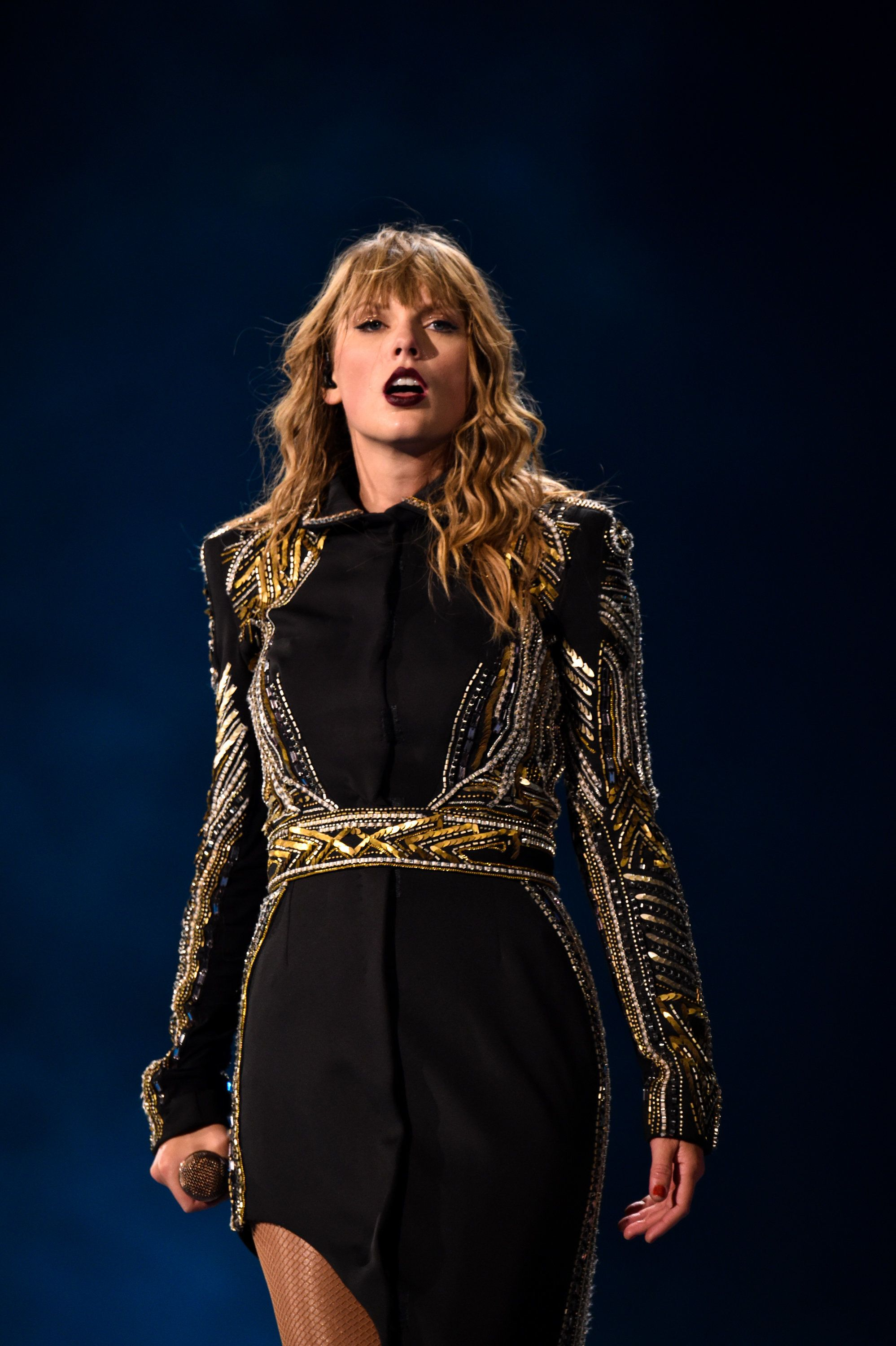 ATLANTA, GA - AUGUST 11:  Taylor Swift performs onstage during the Taylor Swift reputation Stadium Tour at Mercedes-Benz Stadium on August 11, 2018 in Atlanta, Georgia.  (Photo by John Shearer/TAS18/Getty Images for TAS)
