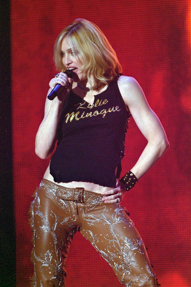 Madonna and Kylie have often spoken of their mutual respect and admiration for each other. Madge even paid tribute to Kylie by wearing a vest with the pop princess's name emblazoned across the front at the 2000 MTV VMAs.