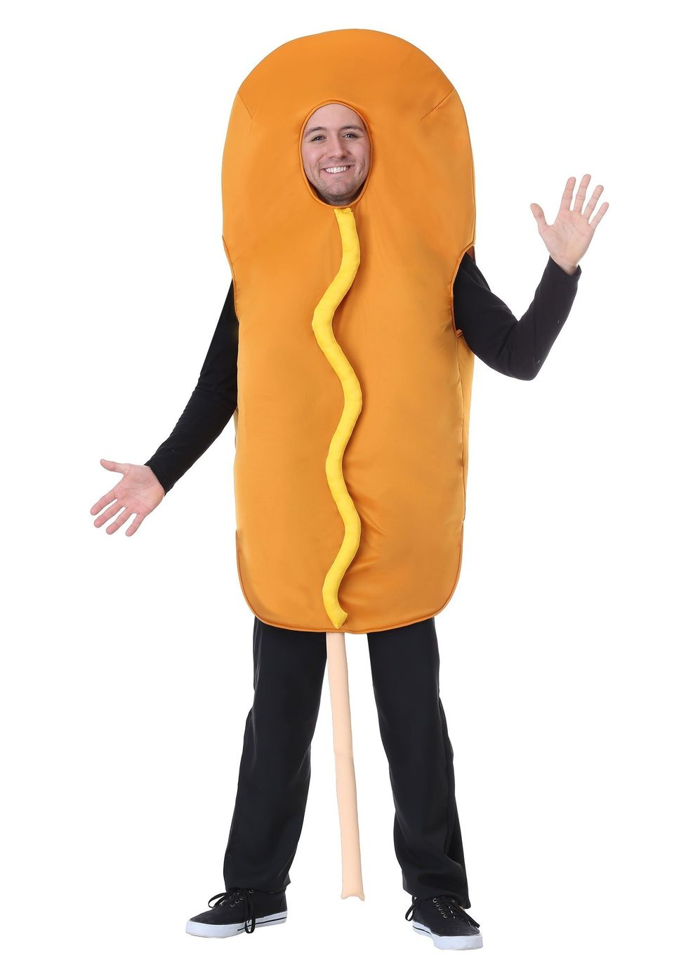 "For some people, this <a href=""https://www.halloweencostumes.com/adult-corndog-costume.html"" target=""_blank"">corn dog costume"