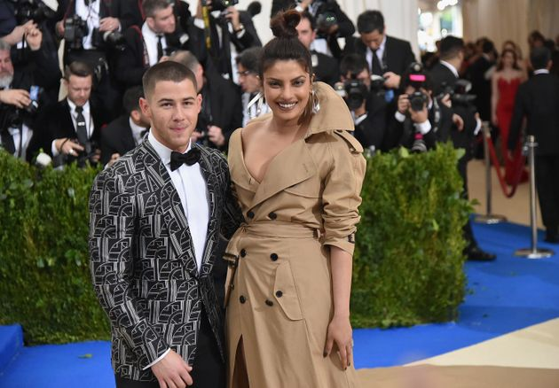 Nick Jonas and Priyanka Chopra attend the 2017 Met Gala in New