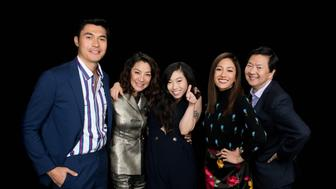 Constance Wu, Awkwafina, Ken Jeong, Michelle Yeoh & Henry Golding visit Build Series NYC on August 14, 2018 in New York. Photos by Noam Galai