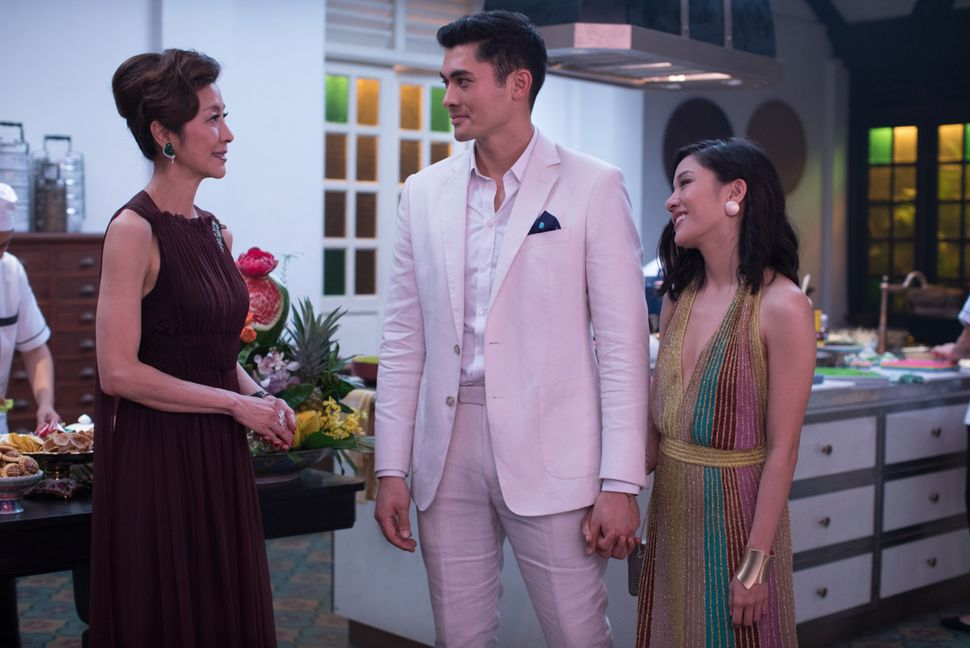 "Yeoh, Golding and Wu in ""Crazy Rich Asians."""