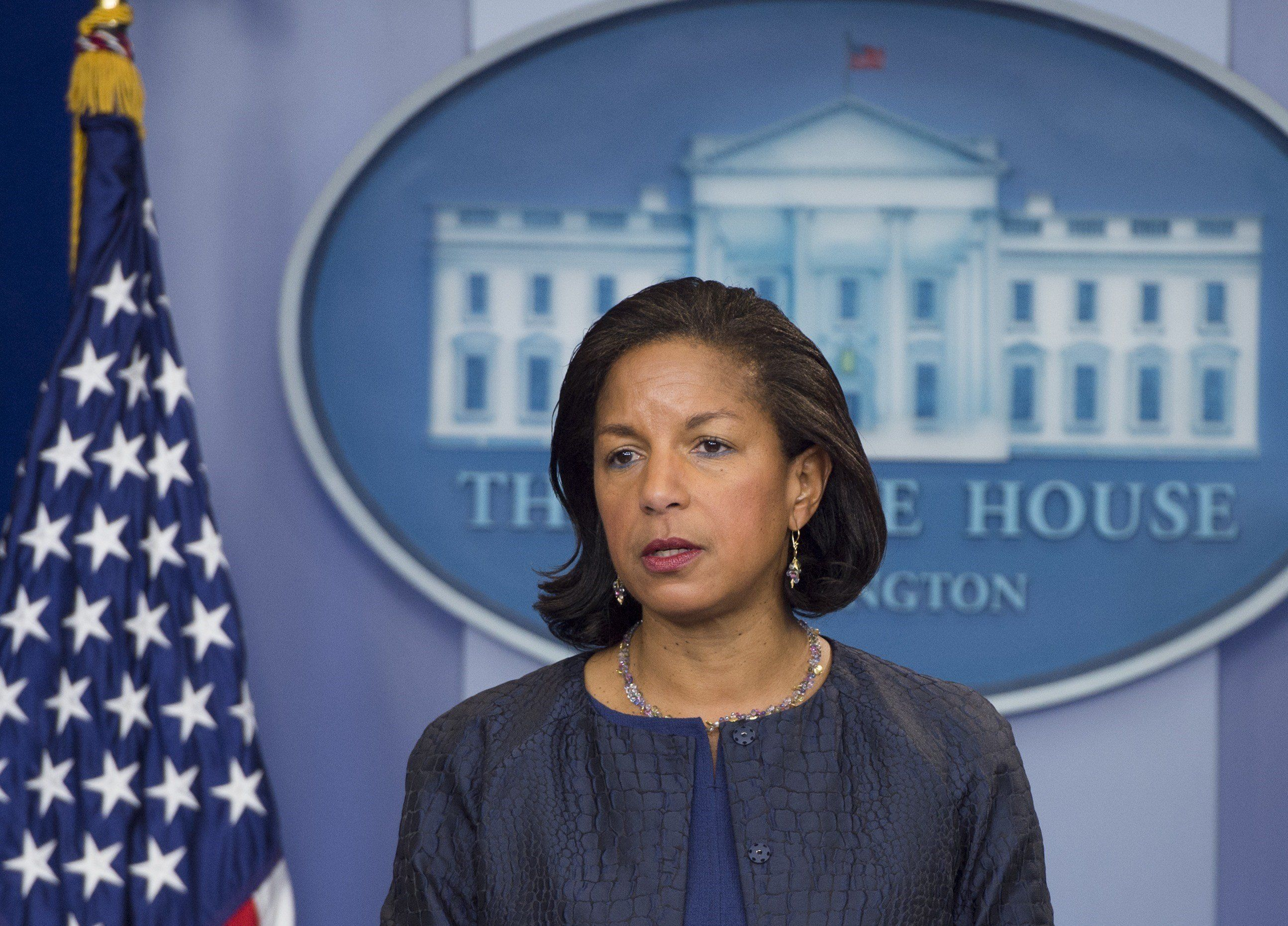 US National Security Advisor Susan Rice speaks about US President Barack Obama's upcoming travel to Turkey, the Philippines and Malaysia, during the Daily Press Briefing at the White House in Washington, DC, November 12, 2015. AFP PHOTO / SAUL LOEB        (Photo credit should read SAUL LOEB/AFP/Getty Images)