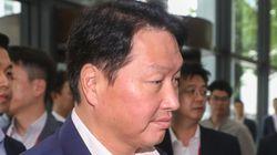 최태원 SK 회장이 강용석 변호사 신청으로 증인 출석해 법정에서 한